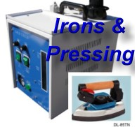please click here to see our Irons, Boilers & Pressing Equipment